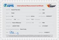 AIMS-IAAF Certificate