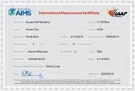 Kuwait Marathon (1/2 Marathon) AIMS-IAAF certificate